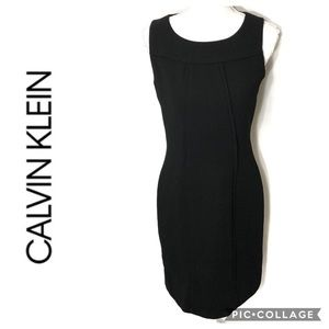 Calvin Klein Black Sheath Dress Sz 4